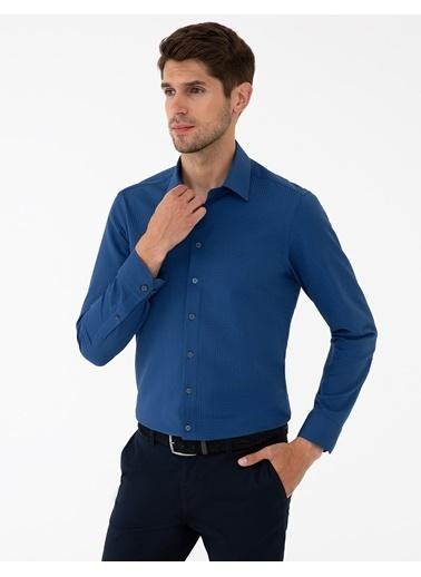 Pierre Cardin G021Gl004.000.1294452.Vr033 Gömlek Uzunk Lacivert